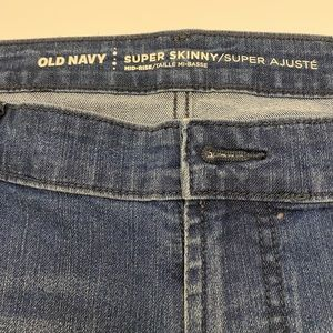 Old Navy Super Skinny Jeans 16P Blue Jeans